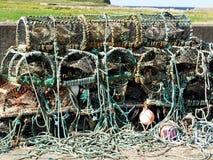 σχοινί αστακών ψαροκόφινω&n Στοκ Φωτογραφίες