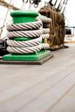 σχοινί γεφυρών σφηνών schooner Στοκ Εικόνες