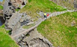 σχοινί γεφυρών carrick rede Στοκ Εικόνες