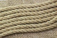 Σχοινί γιούτας sackcloth Στοκ Εικόνα