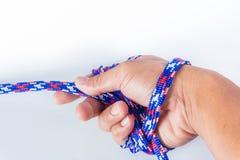 Σχοινί εκμετάλλευσης χεριών Στοκ φωτογραφίες με δικαίωμα ελεύθερης χρήσης