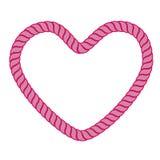 σχοινί καρδιών Στοκ φωτογραφίες με δικαίωμα ελεύθερης χρήσης