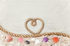 Σχοινί μορφής καρδιών Στοκ Φωτογραφίες