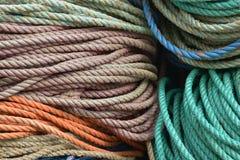 Σχοινί που χρησιμοποιείται νάυλον για τις λεπτομέρειες αλιείας αστακών Στοκ Φωτογραφίες