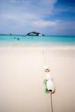 Σχοινί πρόσδεσης στην παραλία νησιών TA Chai, Ταϊλάνδη Στοκ εικόνες με δικαίωμα ελεύθερης χρήσης