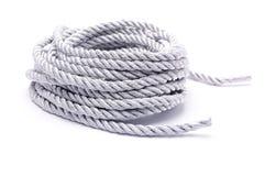 σχοινί σε ένα άσπρο υπόβαθρο Στοκ Φωτογραφίες