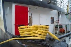 Σχοινί στο σκάφος Στοκ φωτογραφίες με δικαίωμα ελεύθερης χρήσης