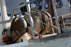 Σχοινί στο σκάφος Στοκ Φωτογραφίες