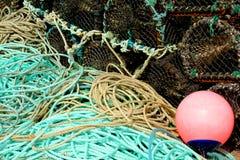 Σχοινιά και παγίδες ψαριών Στοκ εικόνα με δικαίωμα ελεύθερης χρήσης