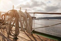 Σχοινιά σε ένα παλαιό σκάφος, ναυσιπλοΐα Στοκ φωτογραφίες με δικαίωμα ελεύθερης χρήσης