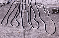 Σχοινιά των πλέοντας βαρκών Στοκ φωτογραφία με δικαίωμα ελεύθερης χρήσης