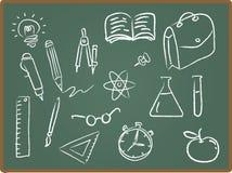 σχολείο εικονιδίων πινάκων κιμωλίας ελεύθερη απεικόνιση δικαιώματος