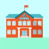 Σχολείο εικονιδίων χτίζοντας συρμένο απομονωμένο χέρι σχολικό διανυσματικό λευκό επίσης corel σύρετε το διάνυσμα απεικόνισης Στοκ εικόνες με δικαίωμα ελεύθερης χρήσης
