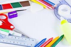 σχολείο εξαρτημάτων Στοκ εικόνες με δικαίωμα ελεύθερης χρήσης