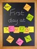 σχολείο καταλόγων ημέρας πρώτο Στοκ φωτογραφίες με δικαίωμα ελεύθερης χρήσης