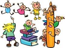 σχολείο κατσικιών διασ&ka απεικόνιση αποθεμάτων