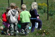 σχολείο κατσικιών ομάδα&s Στοκ φωτογραφία με δικαίωμα ελεύθερης χρήσης