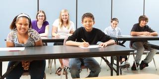σχολείο κατσικιών ποικιλομορφίας εμβλημάτων Στοκ Εικόνες