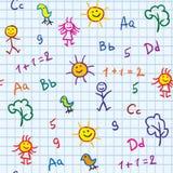 σχολείο μωρών άνευ ραφής στοκ φωτογραφίες
