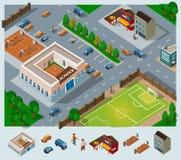 σχολείο περιβάλλοντος διανυσματική απεικόνιση
