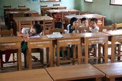 σχολείο της Myanmar παιδιών Στοκ Εικόνες