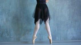 Σχολείο του μπαλέτου στη Ρωσία Το κορίτσι το ballerina σε ένα όμορφο κοστούμι Όμορφος εκφραστικός χορός χορευτών bellet απόθεμα βίντεο