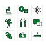 σχολείο 2 πράσινο εικονιδίων Στοκ Φωτογραφίες