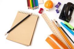 Σχολικά χαρτικά Στοκ φωτογραφία με δικαίωμα ελεύθερης χρήσης