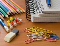 σχολικές προμήθειες γρ&al Στοκ εικόνα με δικαίωμα ελεύθερης χρήσης