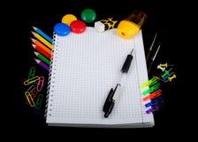σχολικές προμήθειες εκπαίδευσης Στοκ Εικόνα