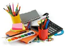 Σχολικές προμήθειες χρώματος Στοκ φωτογραφία με δικαίωμα ελεύθερης χρήσης