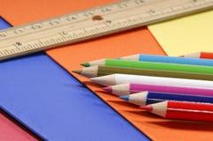 σχολικές προμήθειες Στοκ φωτογραφία με δικαίωμα ελεύθερης χρήσης