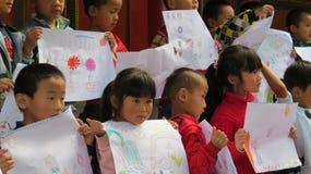 Σχολική έξοδος σε Lijiang στοκ φωτογραφίες