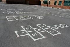 σχολική αυλή παιχνιδιών Στοκ εικόνα με δικαίωμα ελεύθερης χρήσης