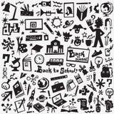 Σχολική εκπαίδευση - εικονίδια καθορισμένα Στοκ φωτογραφία με δικαίωμα ελεύθερης χρήσης