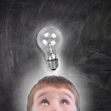 Σχολικό αγόρι ιδέας εκπαίδευσης Στοκ Φωτογραφία