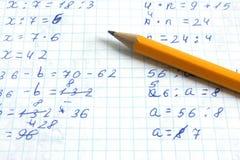 σχολικό γράψιμο μολυβιών  Στοκ εικόνες με δικαίωμα ελεύθερης χρήσης