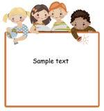 σχολικό κείμενο παιδική&si Στοκ φωτογραφία με δικαίωμα ελεύθερης χρήσης