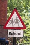 σχολικό σημάδι Στοκ φωτογραφία με δικαίωμα ελεύθερης χρήσης
