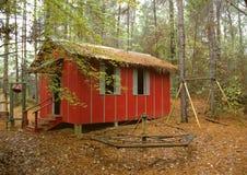 Σχολικό σπίτι Little Red Στοκ Εικόνες
