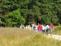 σχολικό ταξίδι πεδίων Στοκ Φωτογραφίες
