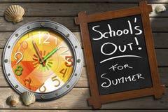 Σχολείου έξω για το καλοκαίρι διανυσματική απεικόνιση