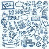 Σχολείο διανυσματικό Doodles Στοκ Εικόνες