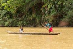 Σχολείο κάτω από τον ποταμό στοκ εικόνα με δικαίωμα ελεύθερης χρήσης