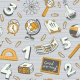 Σχολείο και άνευ ραφής σχέδιο εκπαίδευσης Στοκ εικόνες με δικαίωμα ελεύθερης χρήσης
