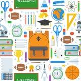 Σχολείο και άνευ ραφής σχέδιο εκπαίδευσης Στοκ Εικόνες