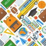 Σχολείο και άνευ ραφής σχέδιο εκπαίδευσης Στοκ Φωτογραφία