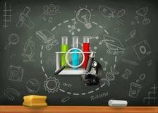 Σχολείο και infographics επιστήμης διανυσματική απεικόνιση