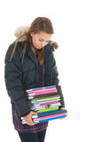 σχολείο κοριτσιών βιβλί&om Στοκ Εικόνες