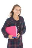 σχολείο κοριτσιών βιβλί&om Στοκ Φωτογραφία